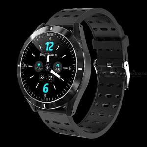 P6 1.3 Inch Smart Watch Ultra Slim Fitness Tracker Watch With Sports Mode Blood Pressure Sleep Monitor Message Reminder