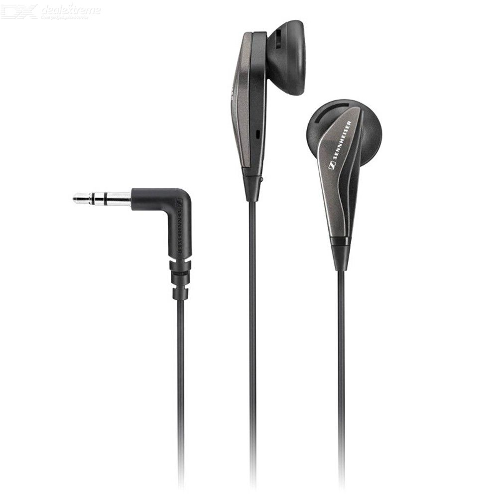 Sennheiser MX375 Stereo Headphones 3.5mm Wired Earphones Superior Deep Bass HD Resolution Noise Reduction In-ear Headsets Black