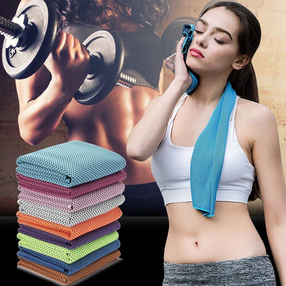 Cooling Towels Light Ultra-Absorbent Quick-Drying Ice Cold Towels 30 X 100 Cm For Sports Yoga Gym Travel Camping Golf Football