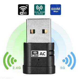 600Mbps Dual Band 2.4G / 5G Wireless Lan USB WiFi Network Card Adapter For Computer PC