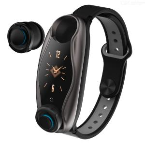 DMDG Color Screen Smart Bracelet Watch with Bluetooth 5.0 Binaural Earbuds Headset, Support Heart Rate Monitor / Pedometer