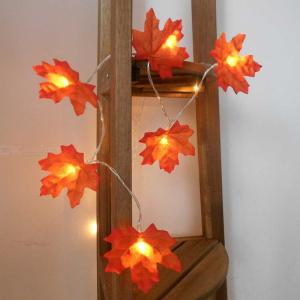 Fairy Lights 20 LED Maple Leaves String Lights Battery Operated Decorative Lights Warm White For Christmas Home Courtyard Party