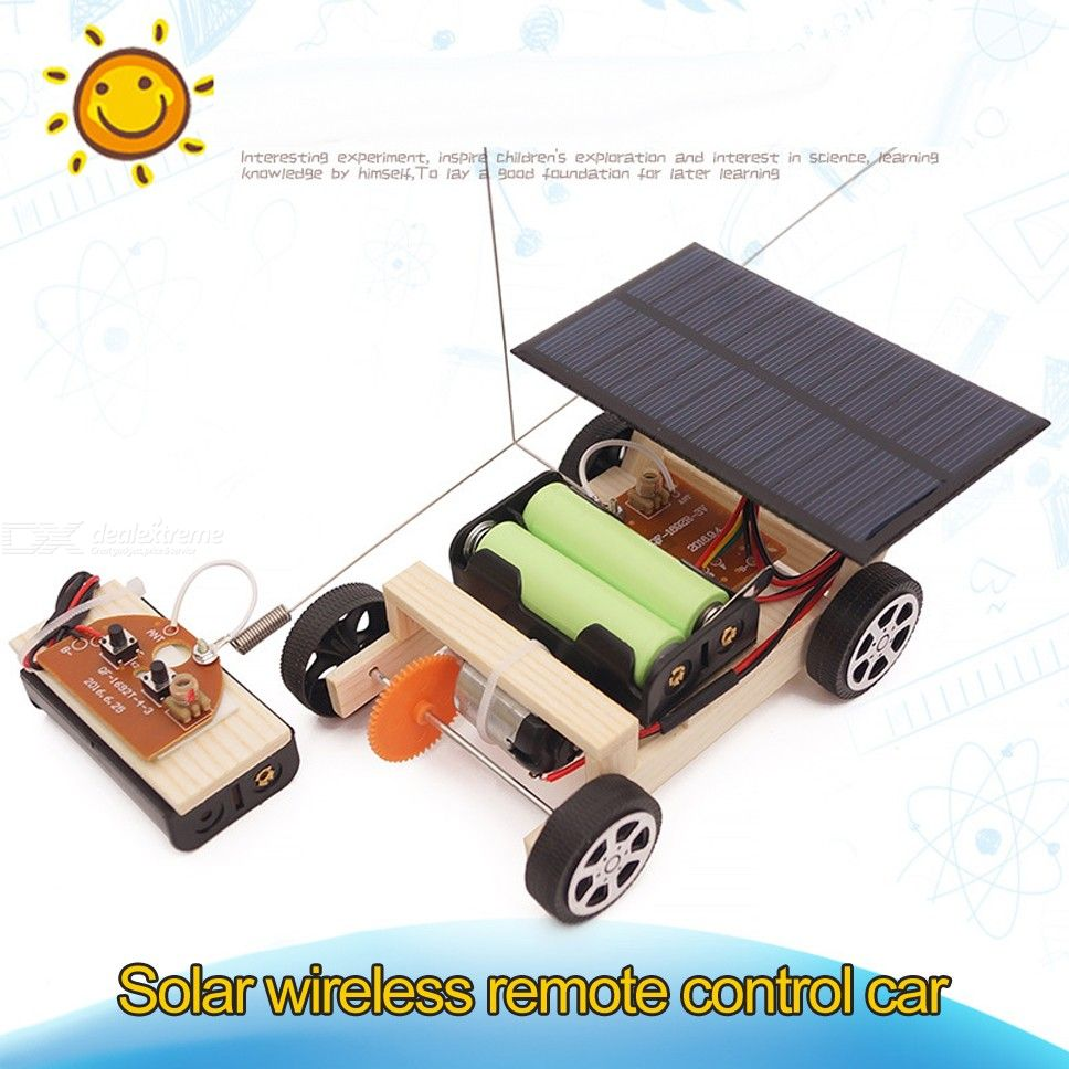 DIY Stem Building Kit Wooden Solar And Wireless Remote Control Car Robot Kit For Kids Teens
