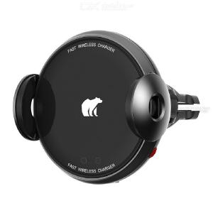 15W Car Phone Holder Charger 15W Cellphone Mount With Wireless Charging Mode