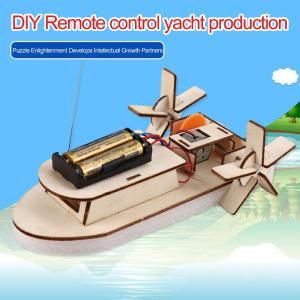 DIY Science Kit RC Yacht Building Kit For Kids Teens