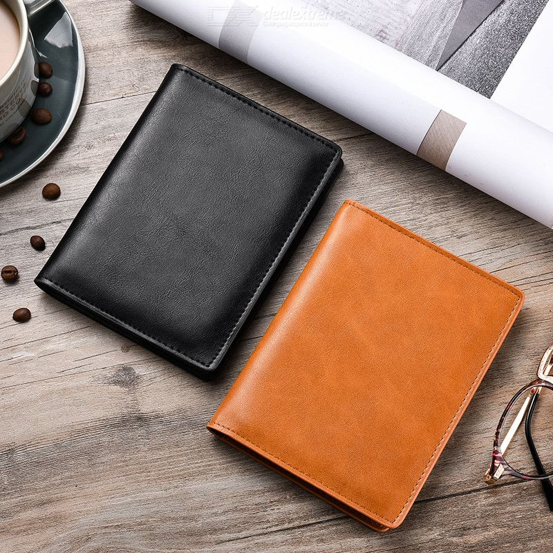 Portable Leather Wallet Purse Passport Cover ID Card Holder