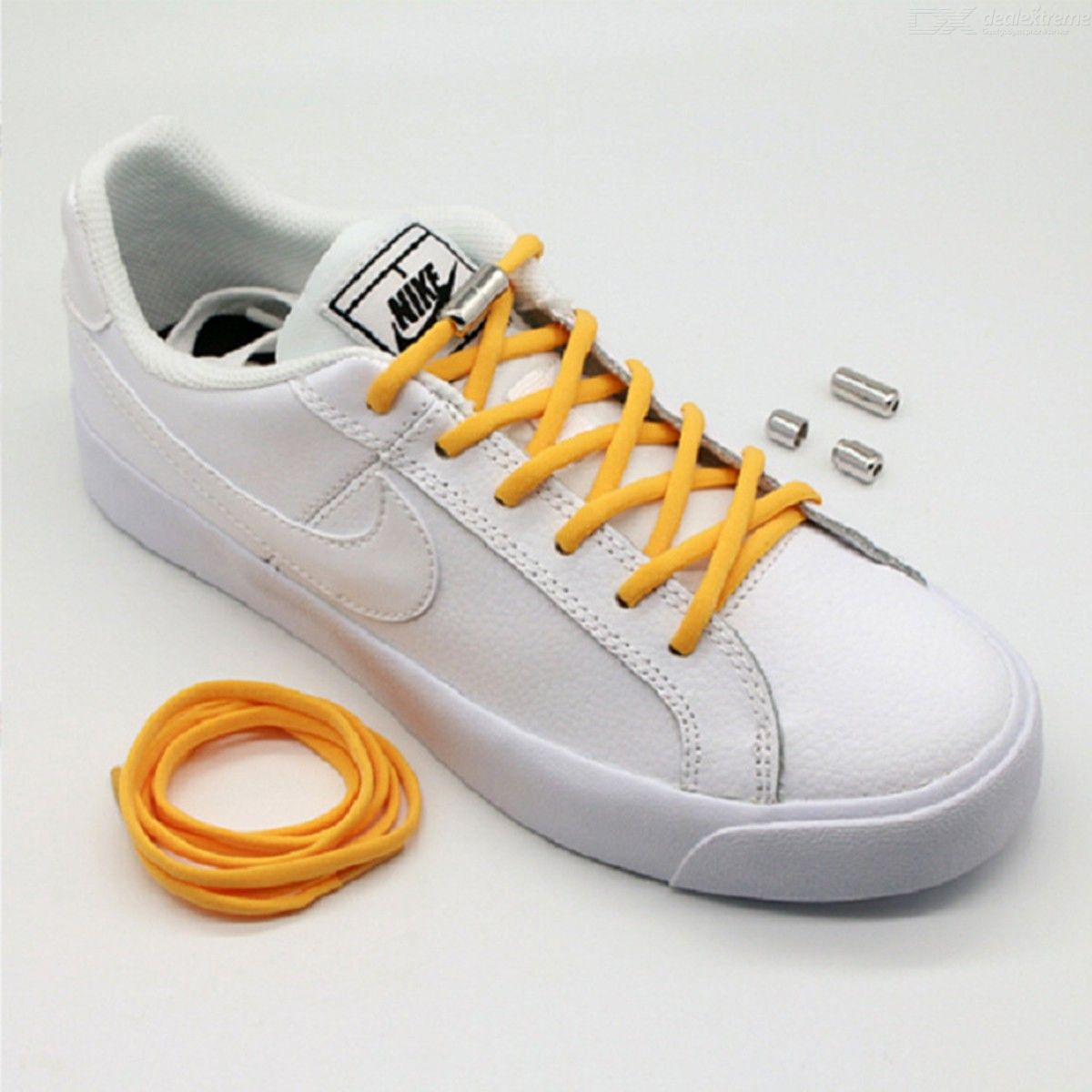 1 Pair No Tie Shoelaces Round Elastic Shoe Laces For Kids Adults Sneakers 11 Col