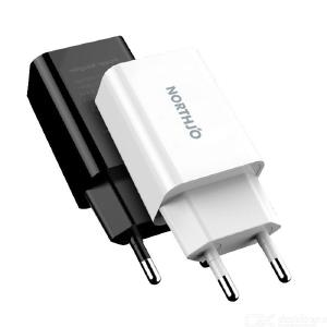 NORTHJO EU USB Wall Charger Travel Power Adapter for iPhone Xiaomi Samsung White - EU Plug