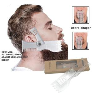 Rotating Beard Shaping Tool, All-in-1 Adjustable Beard Shaper Template Comb Kit For Men