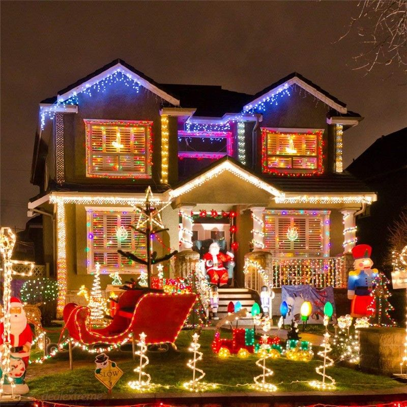 Waterproof | Christmas | Holiday | Outdoor | String | Garden | Solar | Party | Light | Long | LED