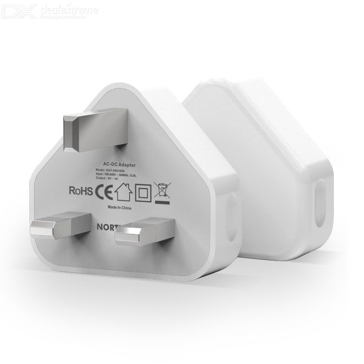 NORTHJO UK USB Wall Charger Travel Power Adapter for iPhone Xiaomi Samsung White - UK Plug