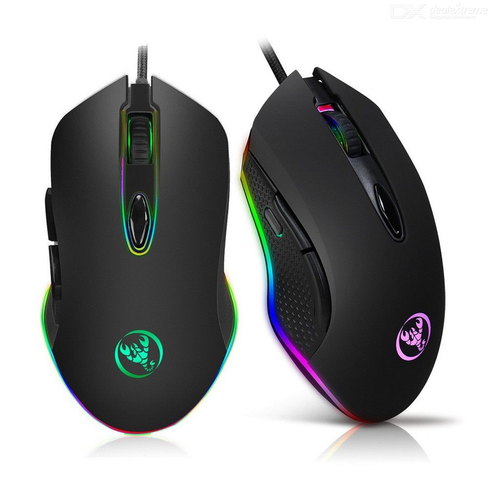 S500 Wired Gaming Mouse USB Game Mice With 12 DPI Adjustment Levels Breathable Light