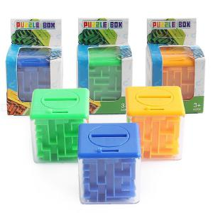 3D Novelty Money Maze Puzzle Box Challenging Brain Game Toy Intelligence Toys For Kids