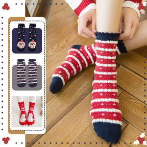 Cotton Crew Socks Autumn Winter Fashionable Cute Soft Breathable Printed Christmas Socks For Women Sized 35-40