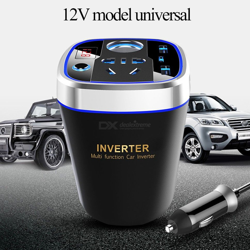 150W Car Power Inverter DC 12V To AC 220V Car Power Adapter With Dual USB Ports