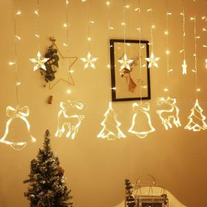 Christmas Light Decorative LED Bell Elk Light Strings For Holidays - EU Plug