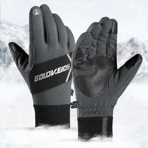 Windproof Cycling Gloves With Reflective Sign Waterproof Anti-slip Full Finger Warm Riding Equipment