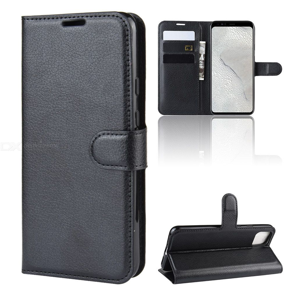 Naxtop TPU + PU Leather Phone Wallet Case Protective Shell With Card Slot For Google Pixel 4 XL / XL4 / Pixel 4