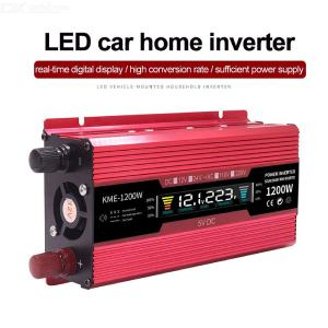 1200W Car Power Inverter 12V 24V LCD Display Converter AC 110V 220V With AC Outputs And USB Port For Laptop