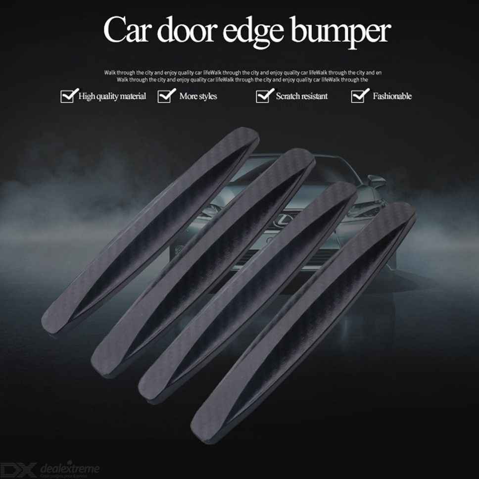 Anti-Scratch Carbon Fiber Car Body Protector Front Rear Bumper Guard Strips Anti-Collision Door Edge Protection Stickers