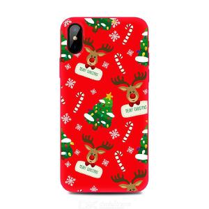 Christmas Colorful Cartoon Soft Silicone Anti-Scratch Frosted Case For IPhone 6S/ 6 Plus/ 7/ 8/ 8 Plus/ XS Max/ 11 Pro And More