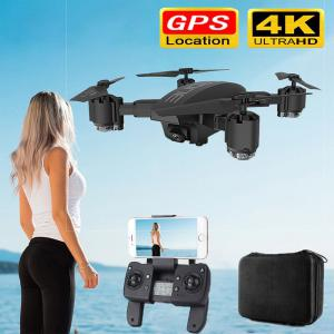 KK12 Folding HD 4K 1080P RC Drone GPS 5G WiFi FPV Quadcopter With Built-in Camera