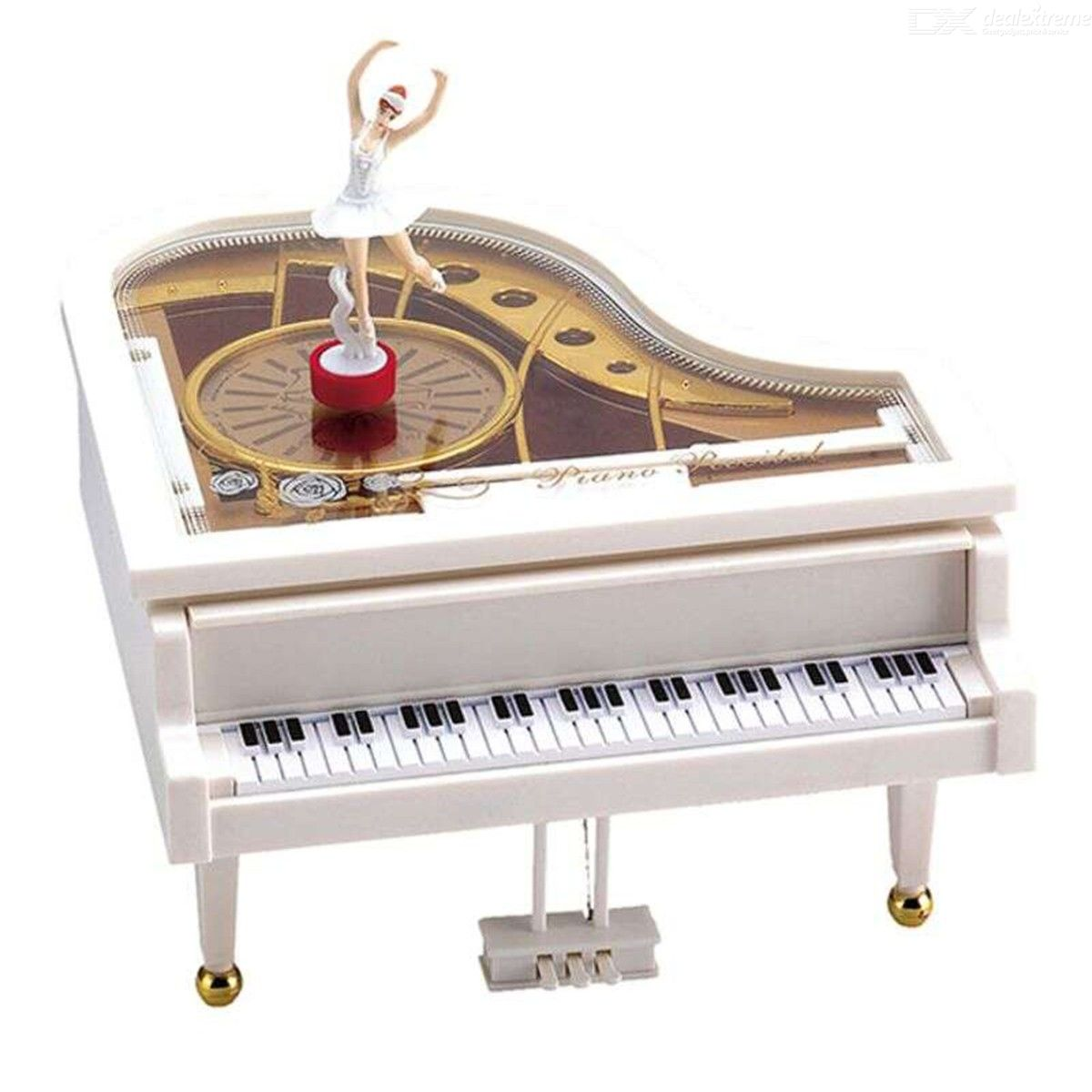 Ballet Dancer Piano Music Box Plastic Musical Toy Home Room Decoration Girls Kids Gift