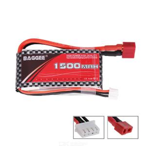 BAGGEE LiPo Battery 2S 7.4V 1500mAh 25C For RC Airplane Drone Helicopter Car 2S LiPo