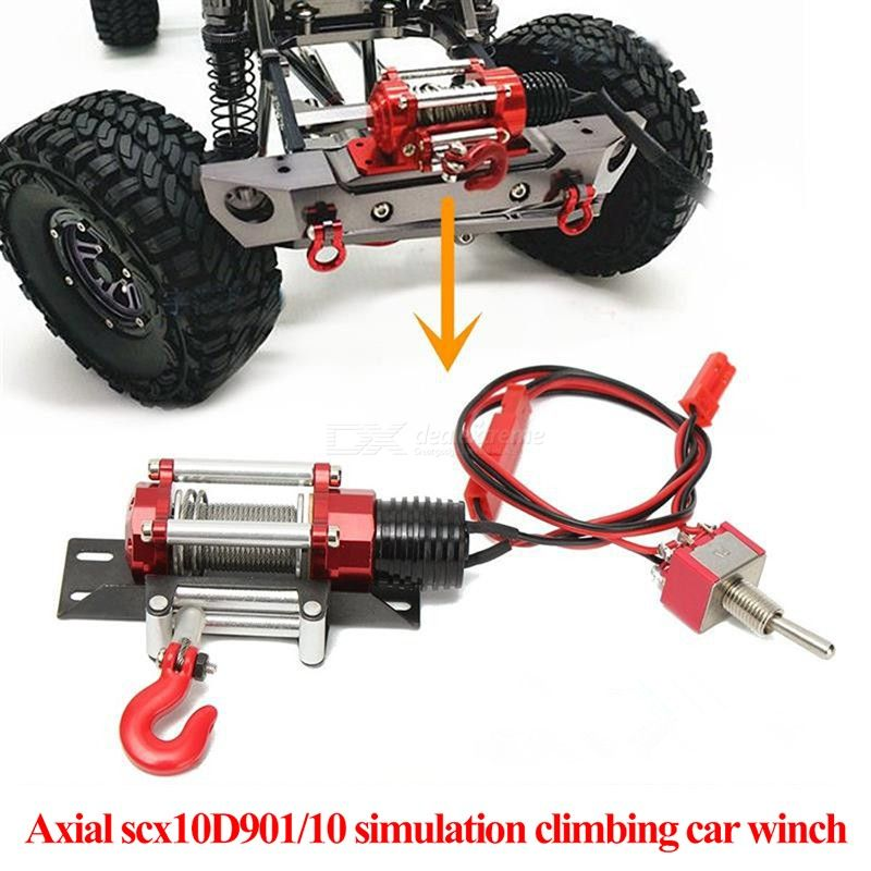 1//10 Electic Metal Winch Model Vehicle Crawler Car Accessory with Remote Controller RC Winch