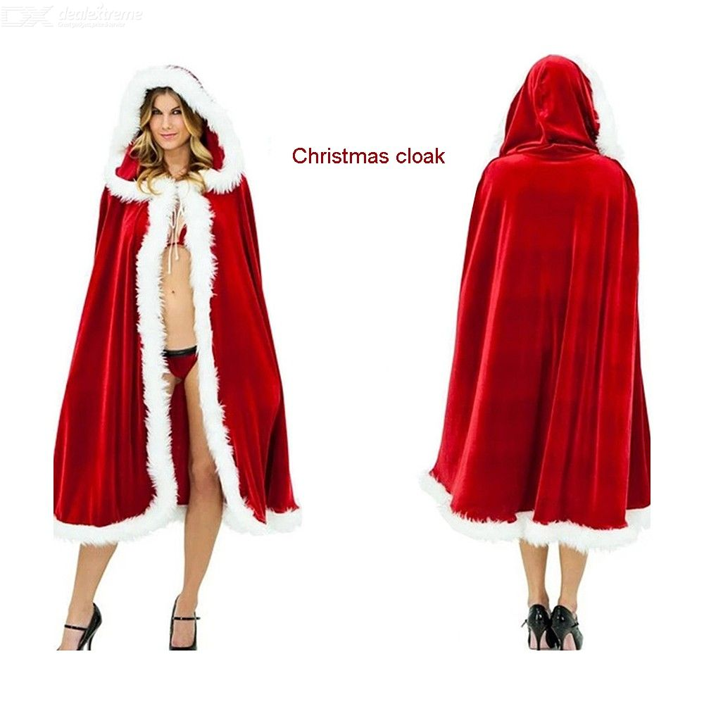 Christmas | Costume | Claus | Merry | Santa | Adult | Women | Kid | Red