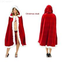 Women-Merry-Christmas-Mrs-Santa-Claus-Red-Cloak-Costume-Cappa-Cloak-Cape-For-Kids-Adults
