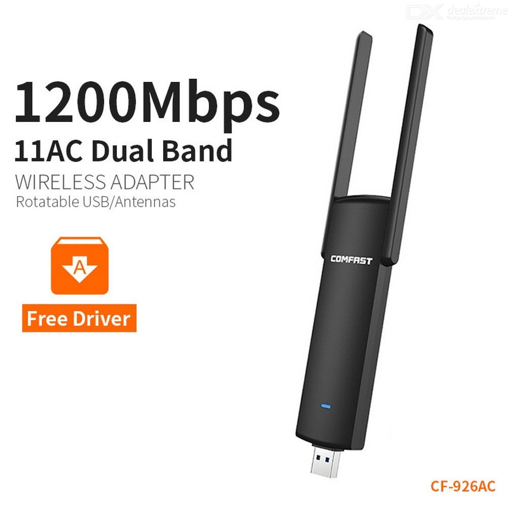 1200mbps Laptop PC USB 3.0 Wifi Network Dongle Adapter Wireless Dual Antenna US