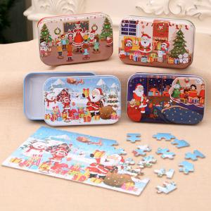 Wooden DIY Puzzle Christmas Gift For Children Kids