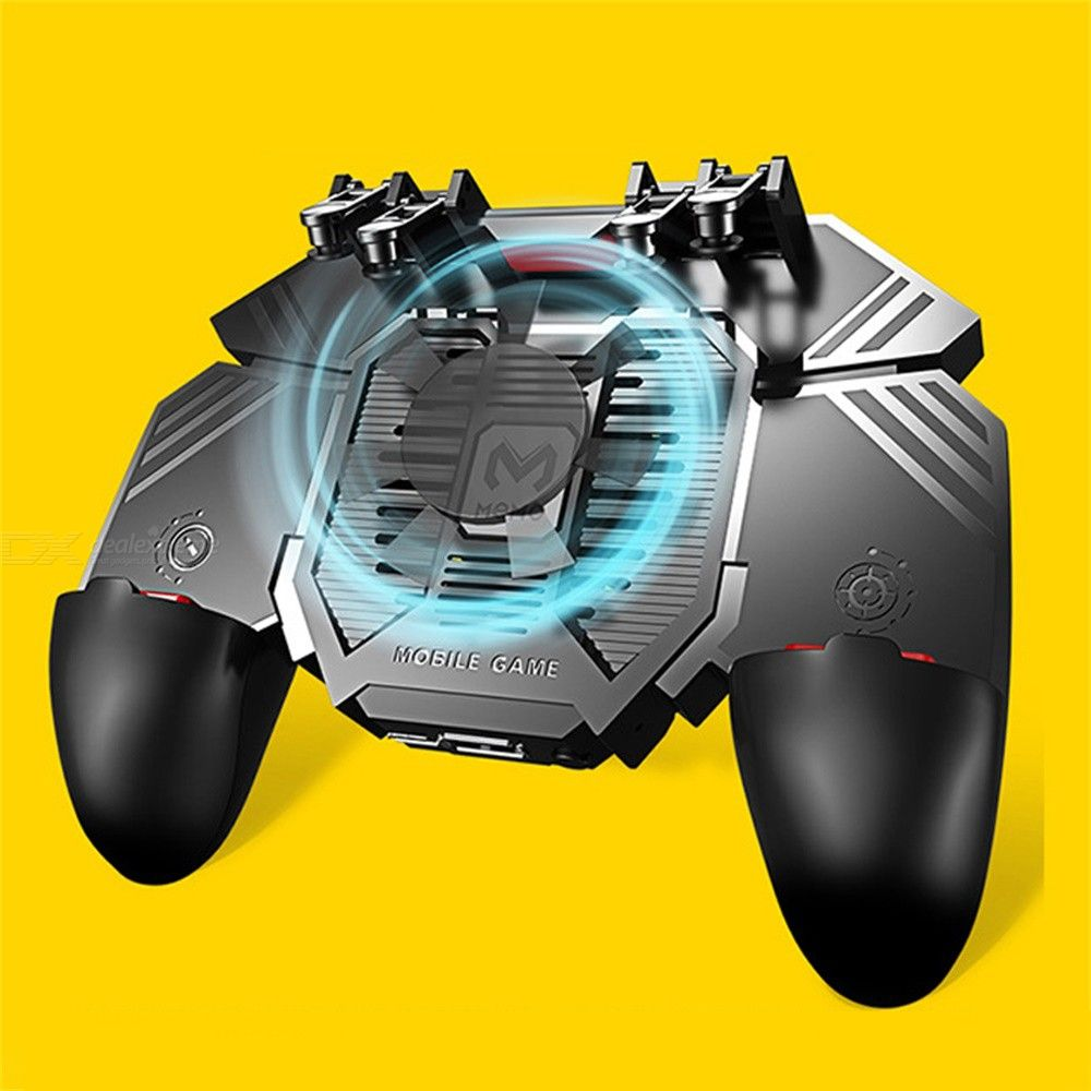 AK77 Mobile Game Controller Wireless Gaming Trigger With Dual Cooling Fans For PUBG
