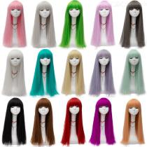 Womens-Long-Straight-Wig-With-Flat-Bangs-14-Colors-Available-Realistic-Party-Cosplay-Perfomance-Props