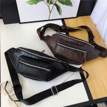 Vintage-PU-Leather-Waist-Pack-Crocodile-Pattern-Chest-Bags-Travel-Crossbody-Bag-For-Men
