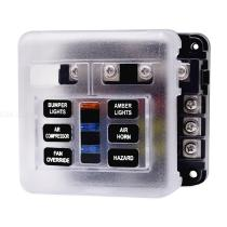 6-Way-Fuse-Box-Holder-Block-Fuse-Box-With-LED-Indicator-Durable-Protection-Cover-Sticker