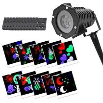 YWXLight-Christmas-Halloween-Projector-Lights-6W-IP65-Waterproof-LED-Snowflake-Projection-Light-with-12-Pattern-Slides-EU-Plug