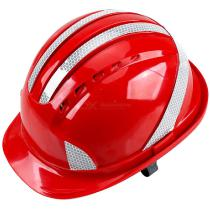 Safety-Hard-Hat-Vented-Adjustable-Construction-Safety-Cap-Helmet-with-Reflective-Strip-Red