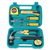 9PCS-Home-Repair-Tool-Kit-With-Pliers-Claw-Hammer-Screwdrivers-Tape-Measure-Art-Knife-Test-Pencil-Storage-Case-Hand-Tool-Set