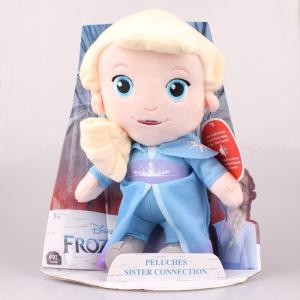 DISNEY FROZEN 2 Peluches Sister Connection Anna / Elsa Plush Doll with Voice for Kids
