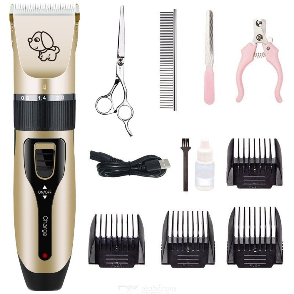 Dog Shaver Clipper USB Rechargeable Cordless Electric Pet Grooming Set