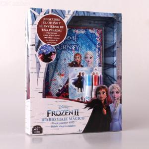 DISNEY FROZEN Magic Journey Diary Notebook with Pen and Stickers for Kids