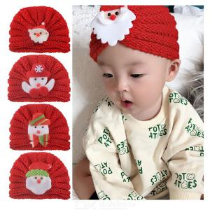 Cute Christmas Infant Baby Knitted Bonnet Hat Winter Warm Skull Cap For Kids