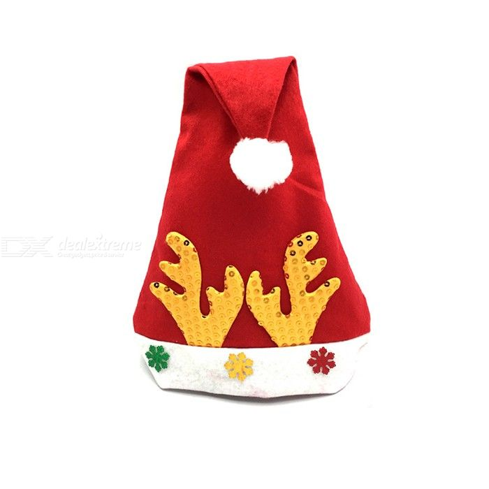 Novelty Funny Christmas Santa Hat Party Dress Up Accessory Deer Horn Hat For Unisex Adults
