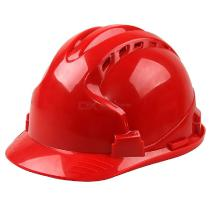 Safety-Hard-Hat-Vented-Adjustable-Construction-Safety-Cap-Helmet-Red