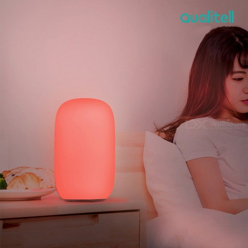 Qualitell USB Charging Silicone LED Sleep Night Light Orange Red Reading Lights Timing Shutdown Bedside Lamp From Xiaomi Youpin