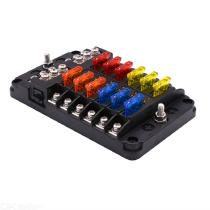 12-Way-Fuse-Box-Holder-Block-Fuse-Box-With-LED-Indicator-Durable-Protection-Cover-Sticker