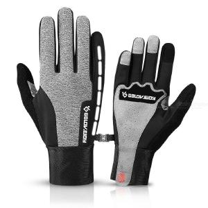 Men Women Winter Warm Gloves Thickened Touch Screen Water Resistant Cycling Driving Thermal Ski Gloves