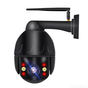 Wireless Security WiFi Camera Outdoor 1080P HD Waterproof Surveillance Camera With Full Color Night Vision - Black